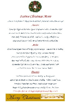 Usk & Railway Christmas Menu