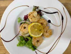The Usk Grilled Prawns